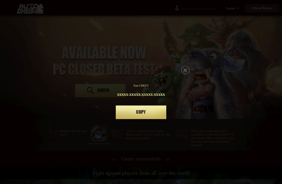 auto chess pc beta key